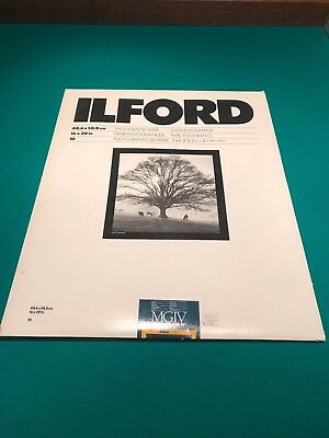 Ilford Multigrade IV RC De Luxe, 16x20, 10 sheets, Sealed!