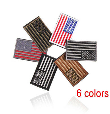 1pc American Flag Embroidered Patch Patriotic USA Military Patch Sewing 6 Colors