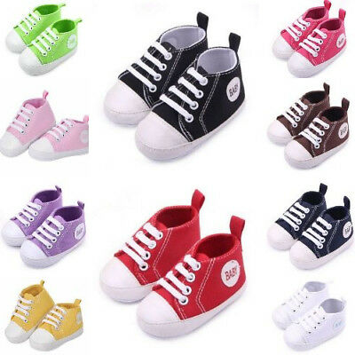 Cute Pre-Walker Canvas Sneaker Soft Shoes For Babies Toddler