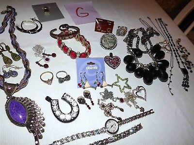 Huge Lot G Of Modern Rhinestone Jewelry Earrings, Necklaces & More*lqqk*