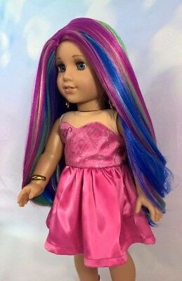"10-11 Custom Doll Wig fit Blythe-American Girl-1/4 Size ""Carousel Ride"" bn3"
