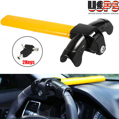 Steering Wheel Lock Vehicle Car Security Keyed Lock Top Mount Anti Theft Tool US