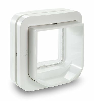 Microchip Pets Door Swing Tunnel Cat Flap Small Dog Big Cats White Sureflap New