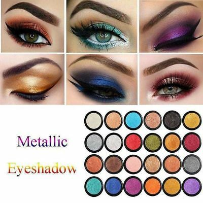 24 Colors Glitter Shimmer Metallic Eyeshadow Palette Pigment Eye Shadow Charm JE