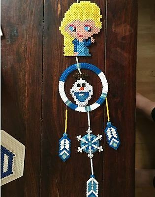 Frozen perler art dream catcher rave melty edm edc sprite hama plur