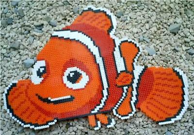 Nemo perler art necklace rave melty edm edc sprite hama plur kandi