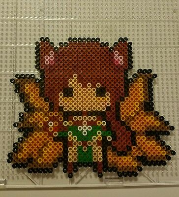 Ahri kandi perler necklaces rave hama art bead melty plur sprite edc edm