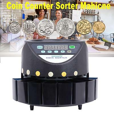 45W Coin Sorter Led Display Digital Automatic Electronic Counter Machine