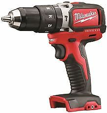 Milwaukee M18 18-Volt Brushless Cordless Compact Hammer Drill, 1/2 In., Bare Too