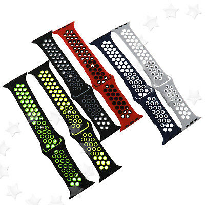 Sport Bracelet Band Silicone Fitness For Apple Watch Series 1/2 38mm Replacement