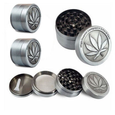 2X Tobacco Herb Spice Grinder 4 Piece Herbal Alloy Smoke Metal Chromium Crusher