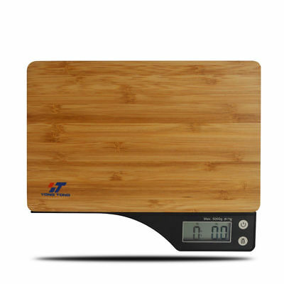 MAX 5kg/11lbs Bamboo Surface Digital Kitchen Scale Multifunction Food Diet Scale