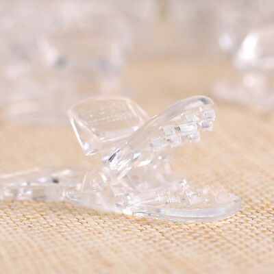 15 Clear T-shaped Plastic Pacifier Badge Clips making Dummy Clips Straps Holder