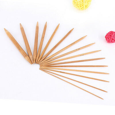 """Carbonized Bamboo Double Pointed Knitting Needles Sock DPN 15cm/6"""" Long of 75pcs"""