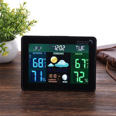 TS-70 Wireless Temperature Humidity Weather Station Forecast In/Outdoor Meter AU