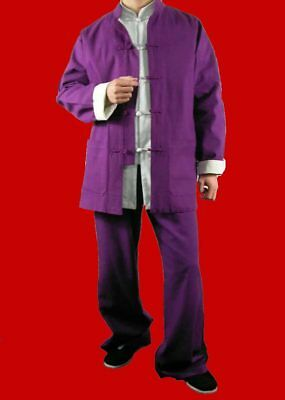746d977878 Fine Linen Kung Fu Martial Arts Taichi Uniform Suit XS-XL or Tailor Custom  Made
