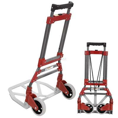 Folding Hand Cart Dolly Fold Up Luggage Truck Portable Moving Cart 165lb 2 Wheel