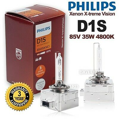 Genuine Pair PHILIPS D1S 4800K Xenon X-treme Vision HID Bulb Car Headlight Lamp