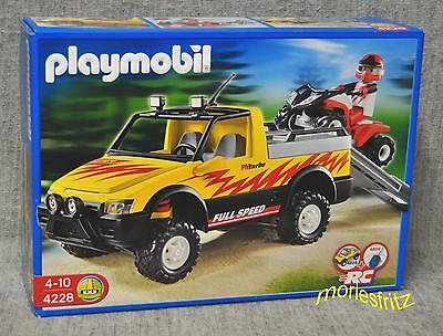 Playmobil 4228 Pick-Up mit Racing Quad - RC-fähiger Offroad-Pickup Neu
