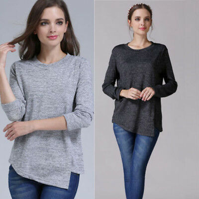 AU Stock Long Sleeve Breast Feeding Nursing Top Maternity Clothes Pregnant Women