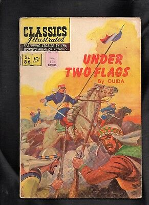 Classics Illustrated #86 Fair Hrn158 (Under Two Flags) Free Ship On $15 Order!!