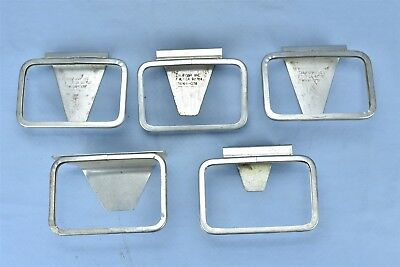 Vintage LOT of 5 VARIETY STORE METAL PRICE DISPLAY STANDS CALIFORM SHABBY #04481