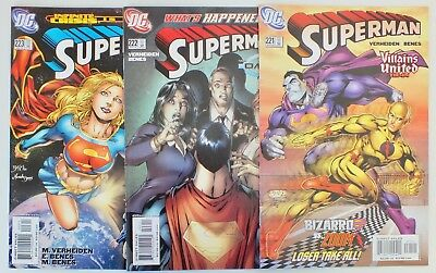 3 issues Superman - Issue # 221, 222, 223 - DC Comics - 2005 - NM/VF - (209)