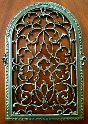 1870's Ornamental Salvaged Gothic Tombstone Reburbished Vent Register Grate