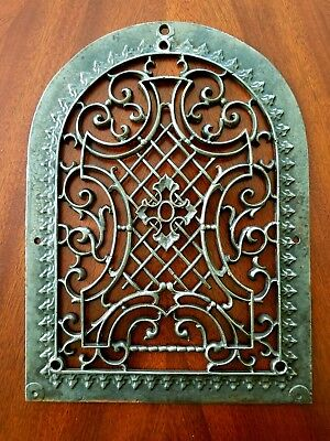 1870s Antique Ornamental Gothic Tombstone Reburbished Register Vent Grate
