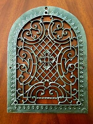 1870's Ornamental Salvaged Gothic Tombstone Reburbished Register Vent Grate
