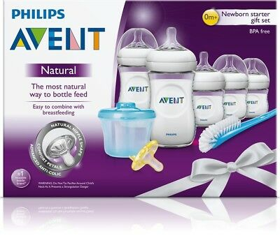 Philips Avent Natural Newborn Baby Bottle Starter Set, SCD296/02