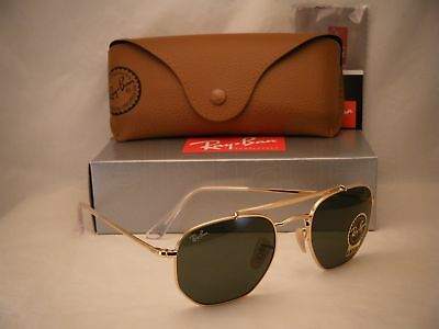 c6021a7e588 RAY BAN 3648 Marshall Gold w Green Crystal (G-15) Lens (RB3648 001 ...