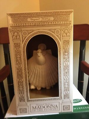 "6""  Margaret Furlong Madonna Of The Flowers Angel Shell Christmas Ornaments"