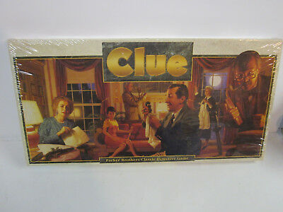 vintage 1992 Clue Parker Brothers Classic Detective Board Game New