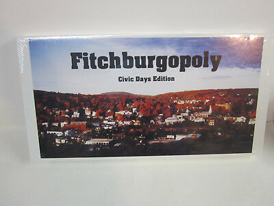 Fitchburgopoly Fitchburg mass massachusetts monopoly civic edition board game