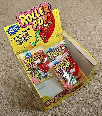 RARE! Vintage 1994 Topps ROLLER POP Candy Display Box bubble gum container Fleer