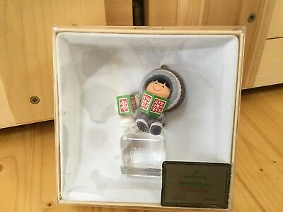 """Frosty Friends """"A Cool Yule"""" 1980 Ornament in Box - Both Books And tag HALLMARK"""