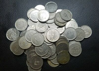 Kuwait 20 fils lot of 68 coins