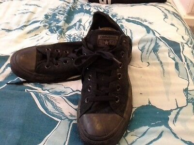 Black converse all star mens size 7 worn once