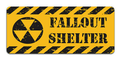 Fallout Shelter Vintage Metal Caution Sign | Bedroom Gaming Room, Man Cave Decor