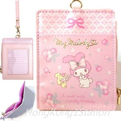 Sanrio My Melody PU Bifold Wallet Badge Holder ID Credit Card Case Coin Purse