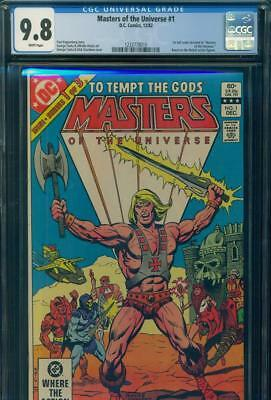 MASTERS OF THE UNIVERSE #1 CGC 9.8 NM/MT WP 1982 DC COMICS 1st FULL MOTU HE-MAN