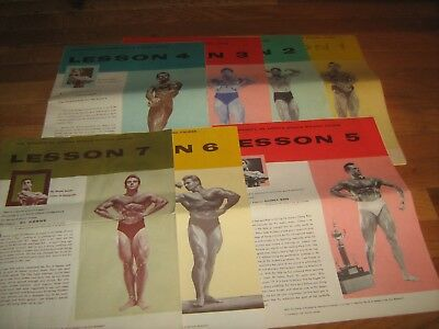 6 Lot JOE WEIDER Lessons MR AMERICA MUSCLE BUILDING COURSE bodybuilding booklets