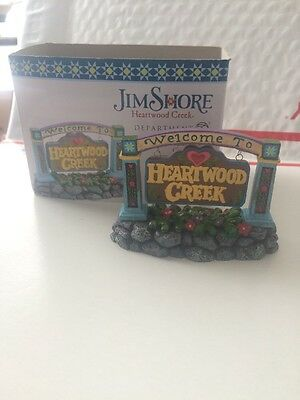 Jim Shore 'Welcome To Heartwood Creek Sign' Accessory #4021339 Department 56