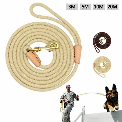 Durable Rope Pet Dog Tracking Leash for Dog Training Lead Length 10/16/33/66FT