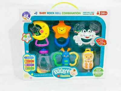 6 PCS Baby Rattle and Teether Easy Grip, Baby Toy Baby Activity Toys 0M+Gift Set