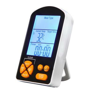 Digital LCD Thermometer Timer Probe for BBQ Grill Meat Kitchen Oven Food Cooking