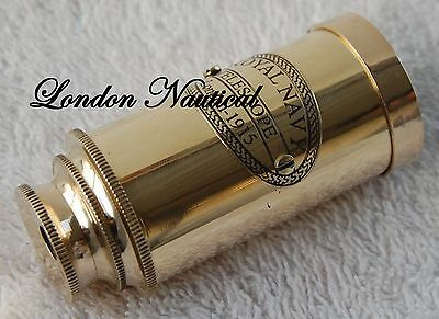 Vintage Pocket Antique Monocular Telescope Vintage Pirate Spyglass Scope brass