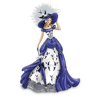 The Blue Willow Lady Rowena Figurine Hamilton Collection 0903673001 MINT IN BOX