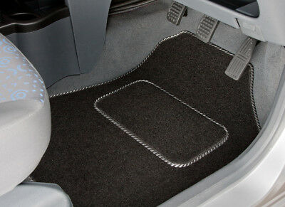 Peugeot Partner Tepee (2008-On) Tailored Car Mats With Silver Stripe Trim [2142]
